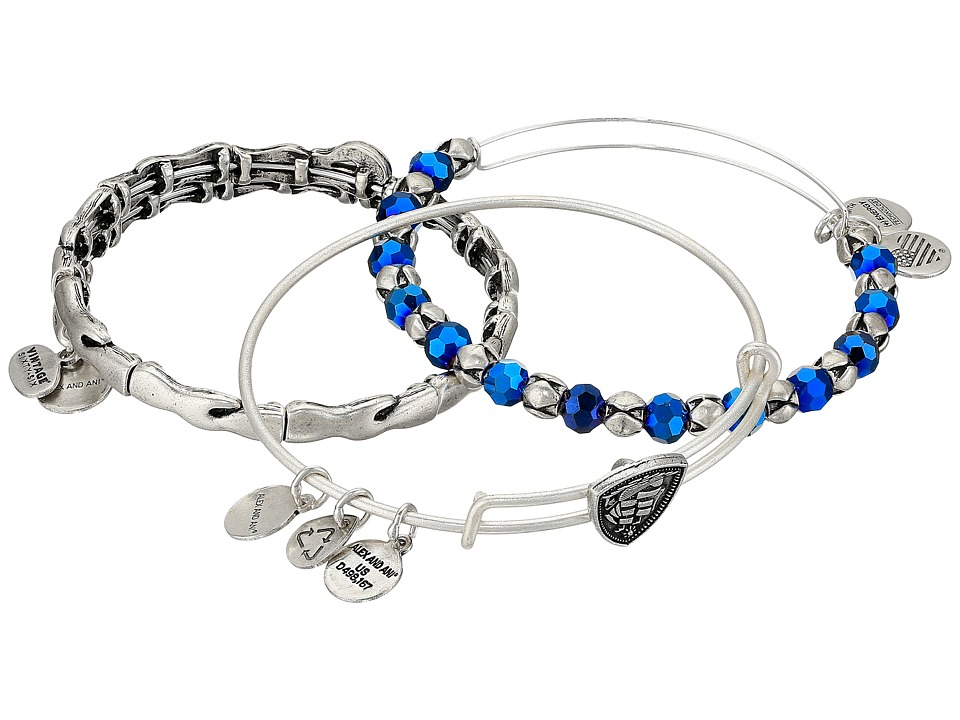 Alex and Ani - Arctic Ship Bracelet Set of 3 (Silver) Bracelet