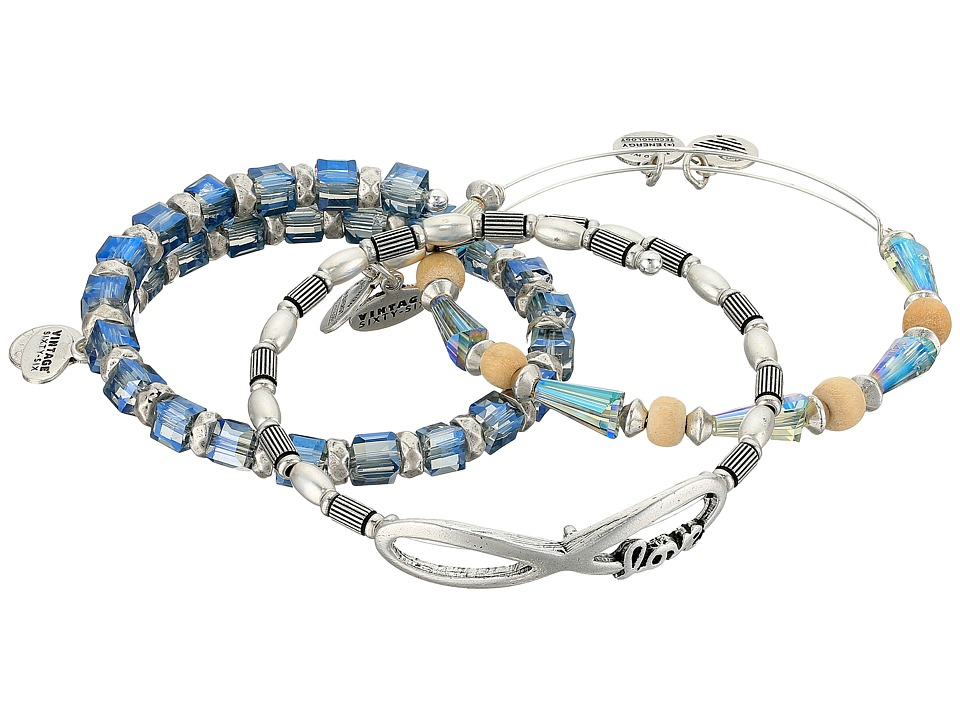 Alex and Ani - Love and Promise Bracelet Set of 3 (Silver) Bracelet