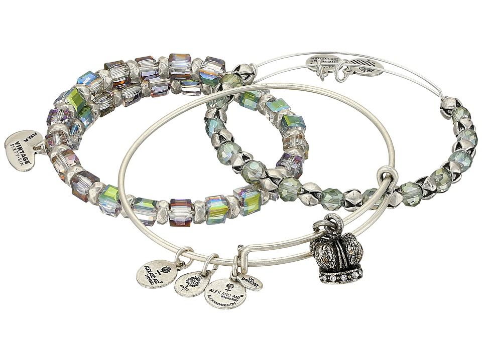 Alex and Ani - Crown Wish Bracelet Set of 3 (Silver) Bracelet