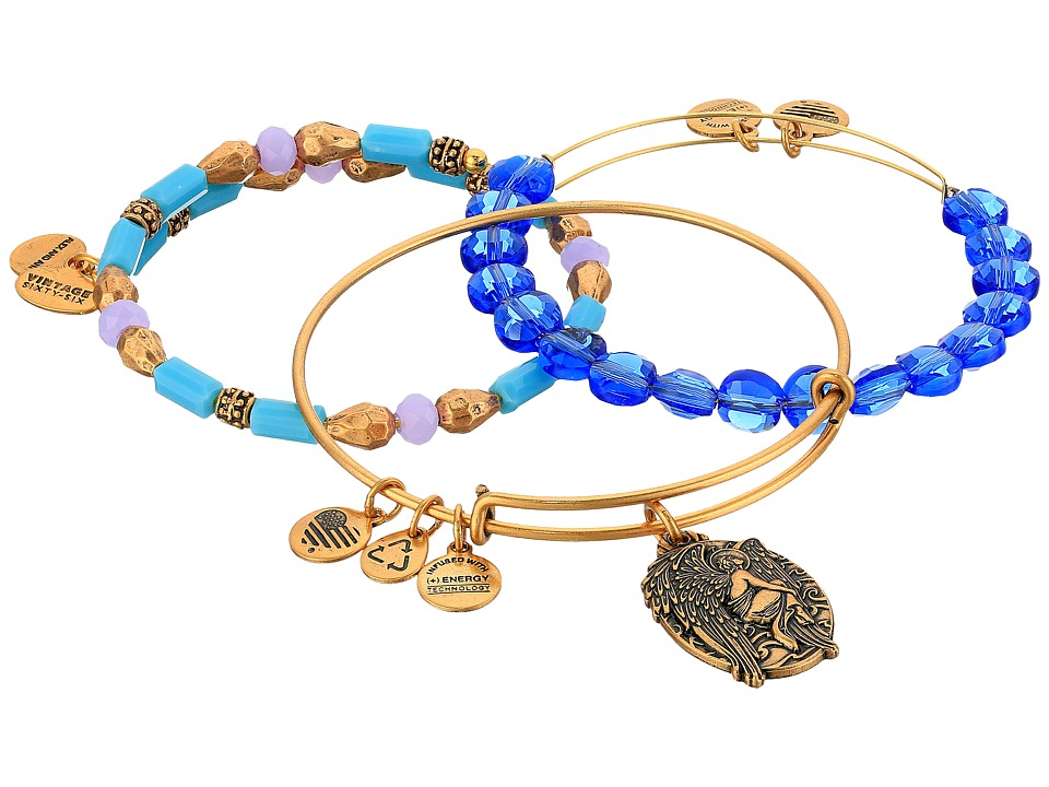 Alex and Ani - Sapphire Guardian Bracelet Set of 3 (Gold) Bracelet