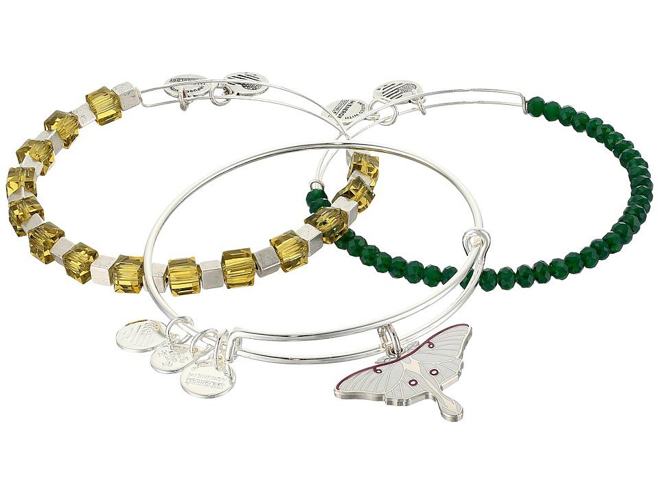 Alex and Ani - Luna Trailblazer Bracelet Set of 3 (Silver) Bracelet