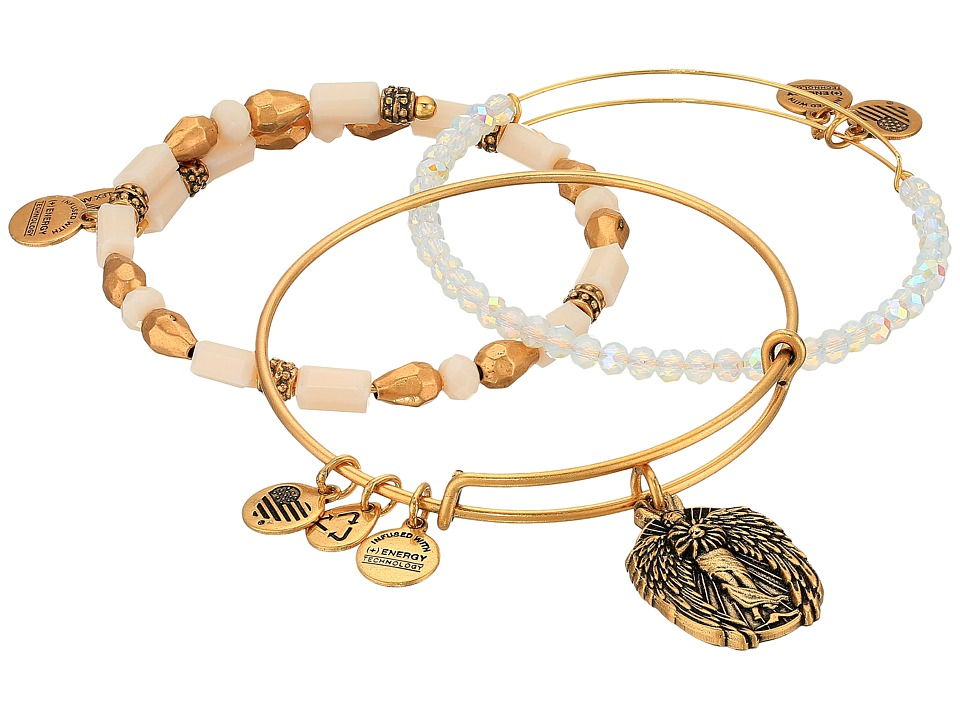 Alex and Ani - Moonlight Knowledge Bracelet Set of 3 (Gold) Bracelet