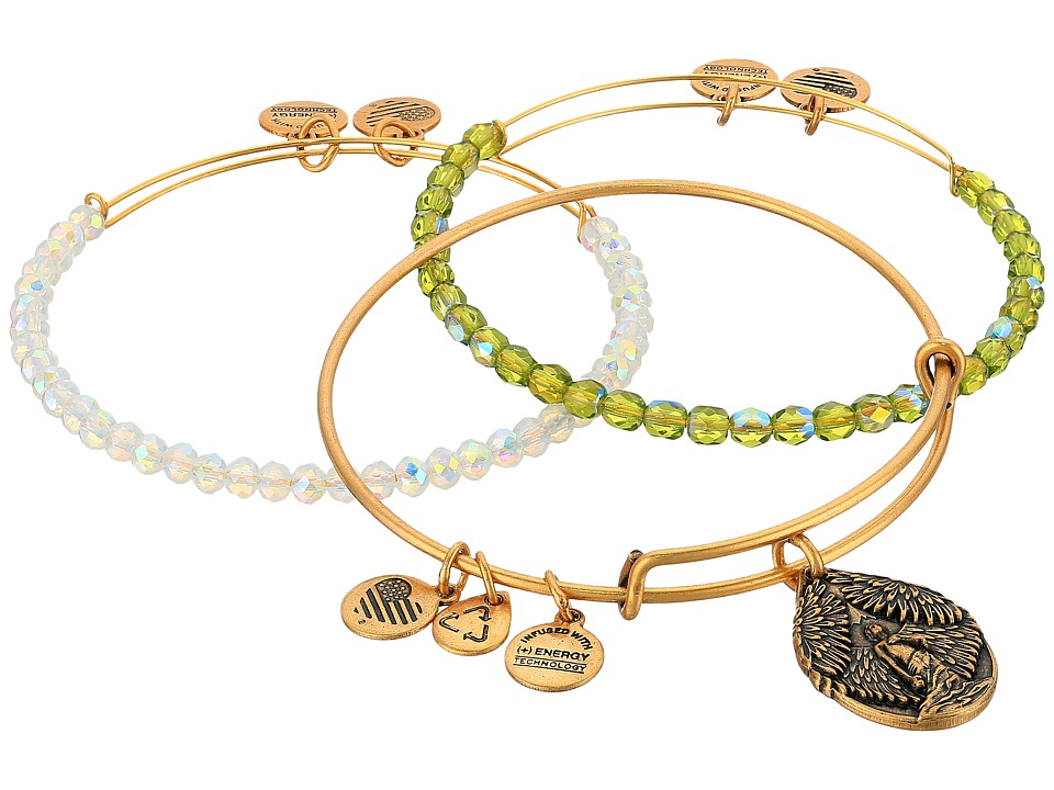 Alex and Ani - Moonlight Peace Bracelet Set of 3 (Gold) Bracelet