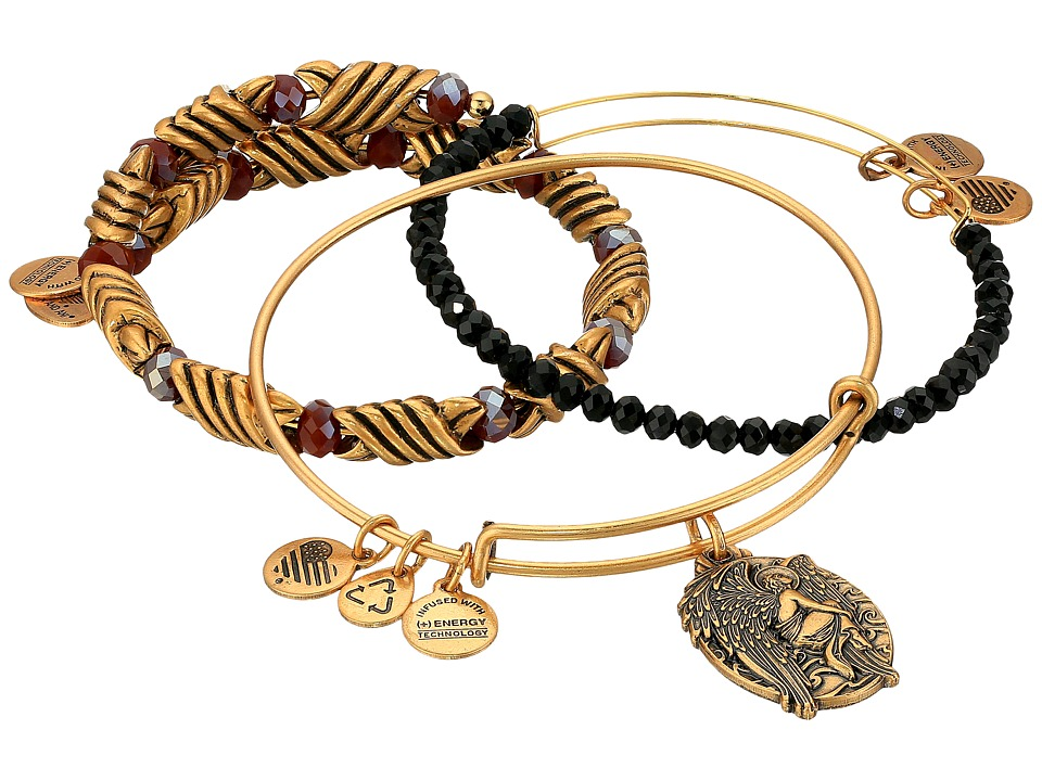 Alex and Ani - Eclipse Answers Bracelet Set of 3 (Gold) Bracelet