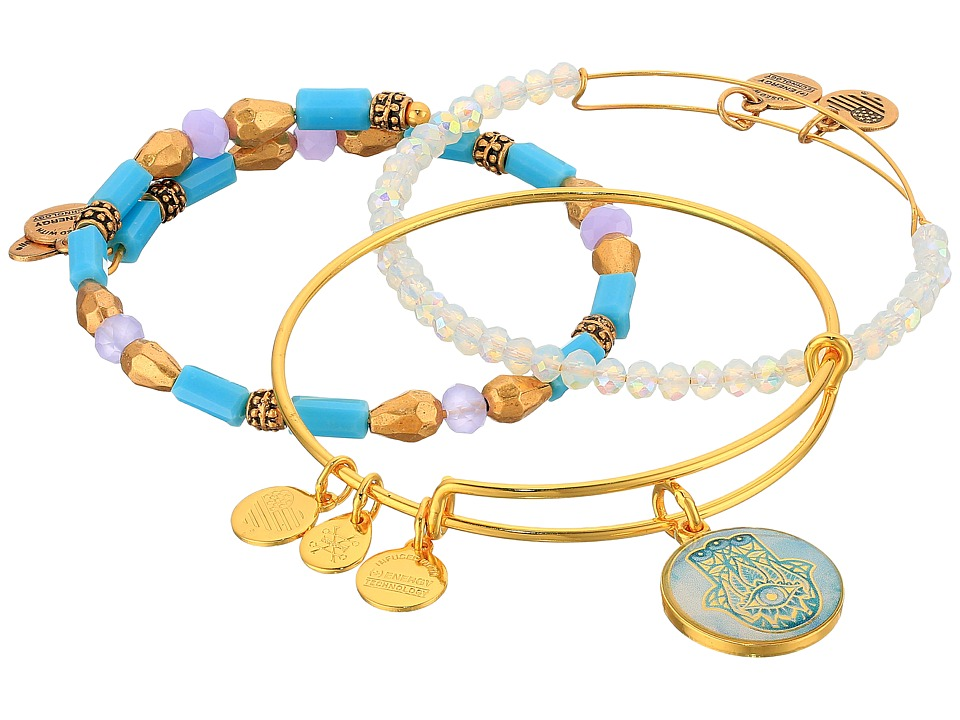 Alex and Ani - Moonlight Marina Bracelet Set of 3 (Gold) Bracelet