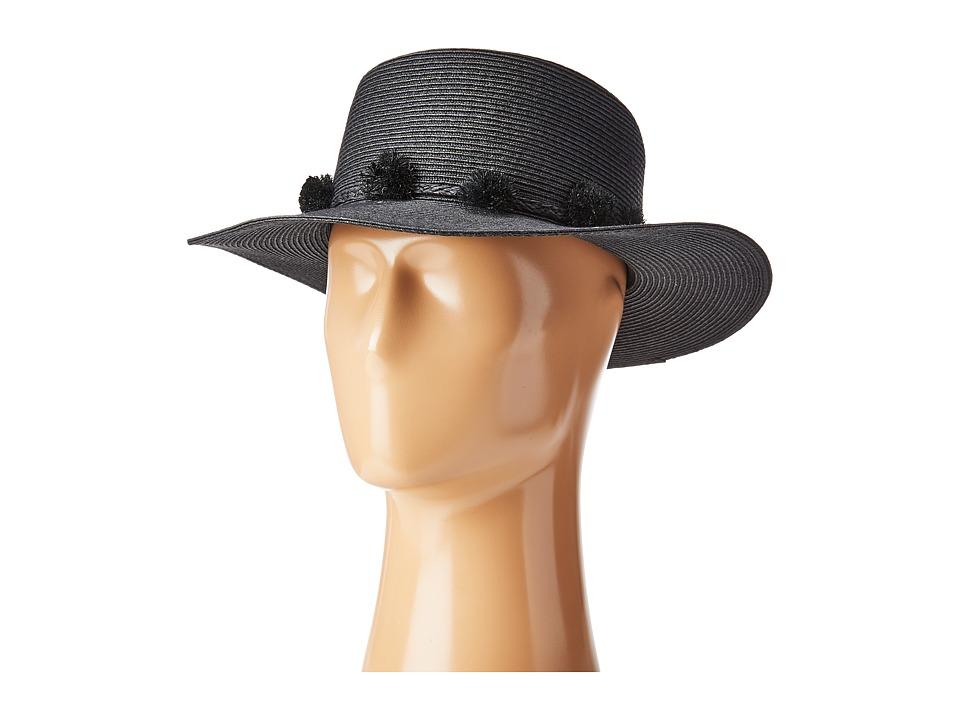 BCBGMAXAZRIA - Pom Boater (Black 1) Caps