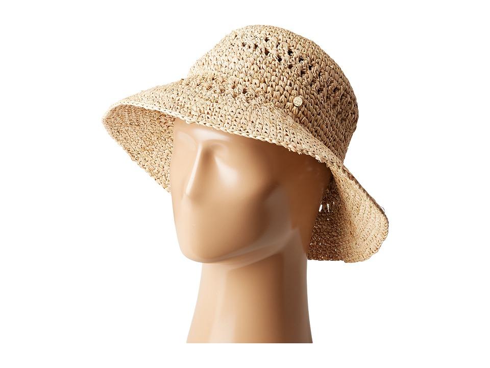 BCBGMAXAZRIA - Open Weave Bucket (Natural) Bucket Caps