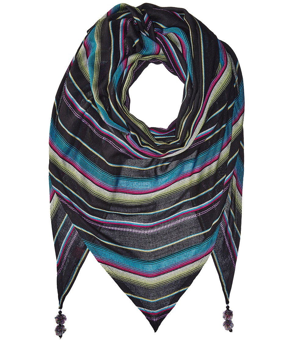 Betsey Johnson - Desert Sunset Triangle (Black) Scarves