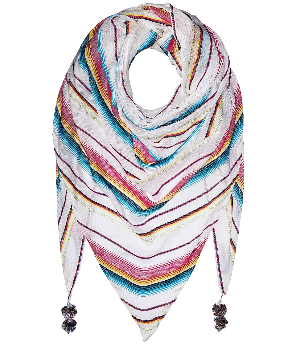 Betsey Johnson - Desert Sunset Triangle (White) Scarves
