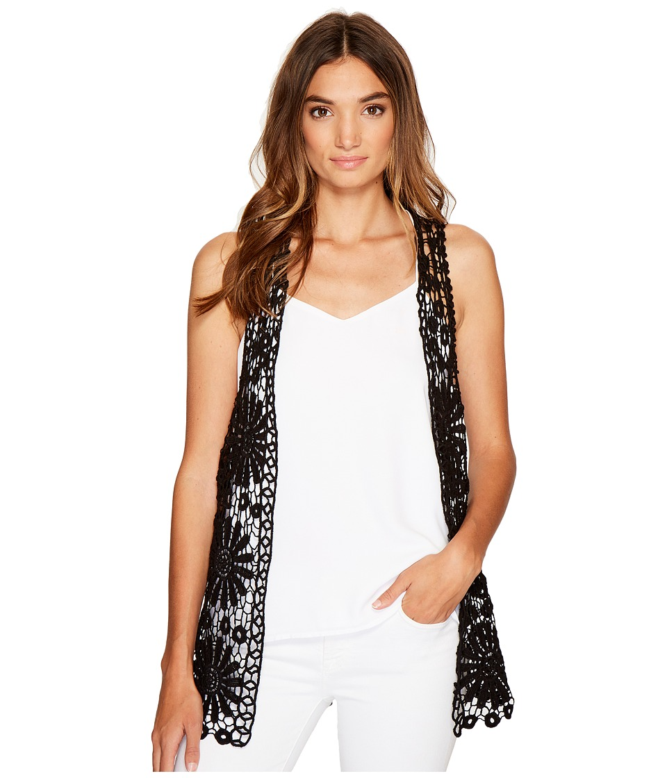 Betsey Johnson - Daisy Vest Cover-Up (Black) Women's Clothing