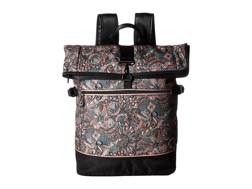 Sakroots New Adventure Roll Top Backpack (Sienna Spirit Desert) Backpack Bags
