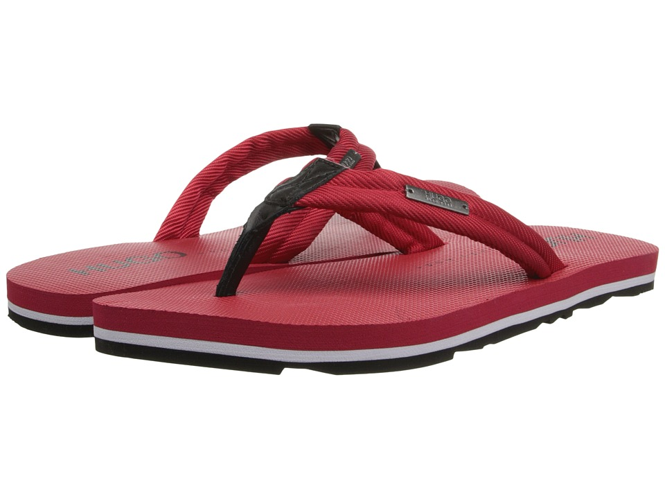 BOSS Hugo Boss - Nomman Thong Sandal by HUGO (Medium Red) Men's Sandals