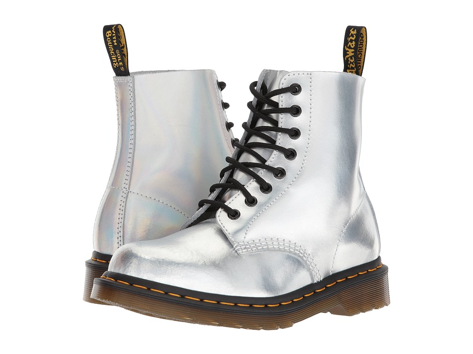 Dr. Martens Pascal RS 8-Eye Boot (Silver Lazer Reflective Metallic Leather) Women
