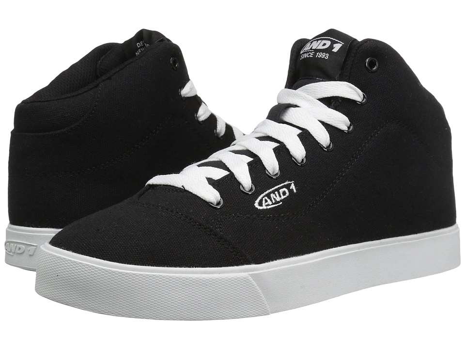 AND1 - TC LS (Black/Black/White) Men's Basketball Shoes