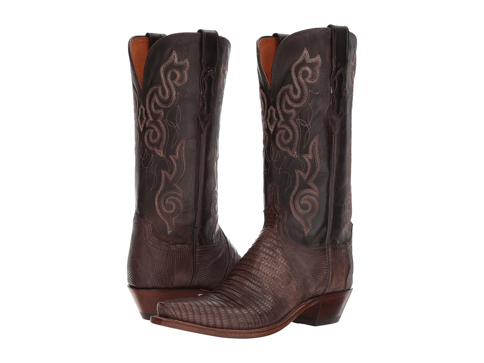 Lucchese KD4006.54 (Nicotine Lizard/Chocolate) Cowboy Boots