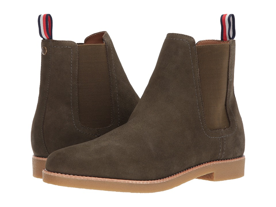 etounes tommy hilfiger delphy blackdark tan womens zip boots. Black Bedroom Furniture Sets. Home Design Ideas