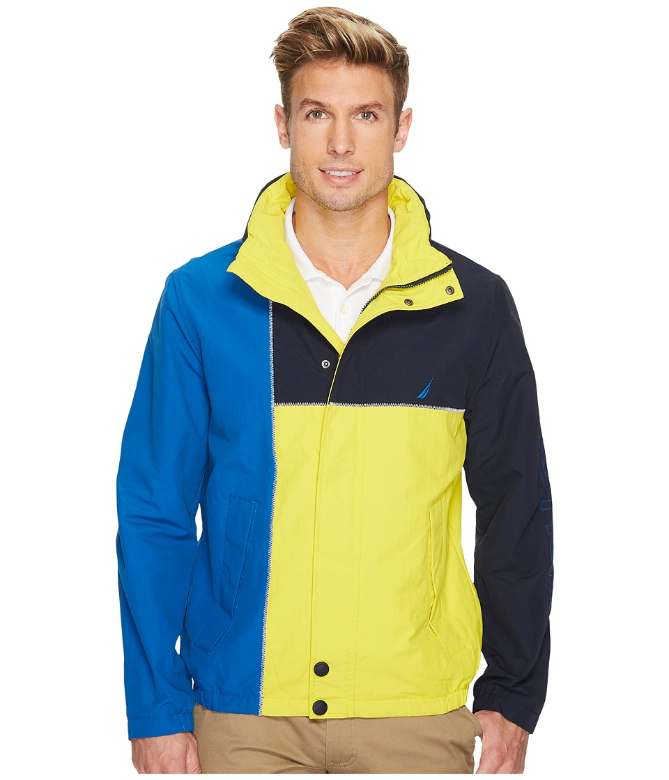 Nautica - Color Blocked Jacket (Vibrant Yellow) Men's Coat