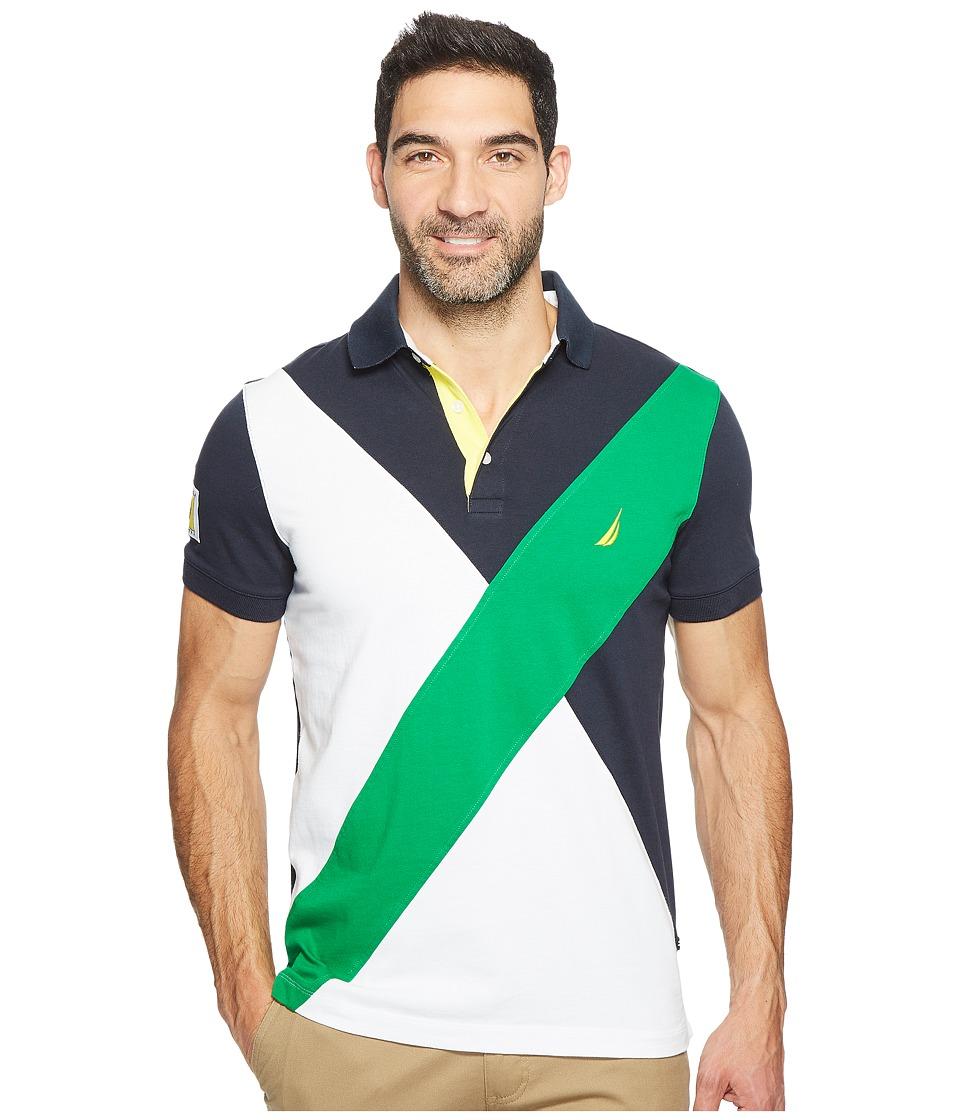 Nautica - Short Sleeve Angle Blocked (Rolling Green) Men's Short Sleeve Knit