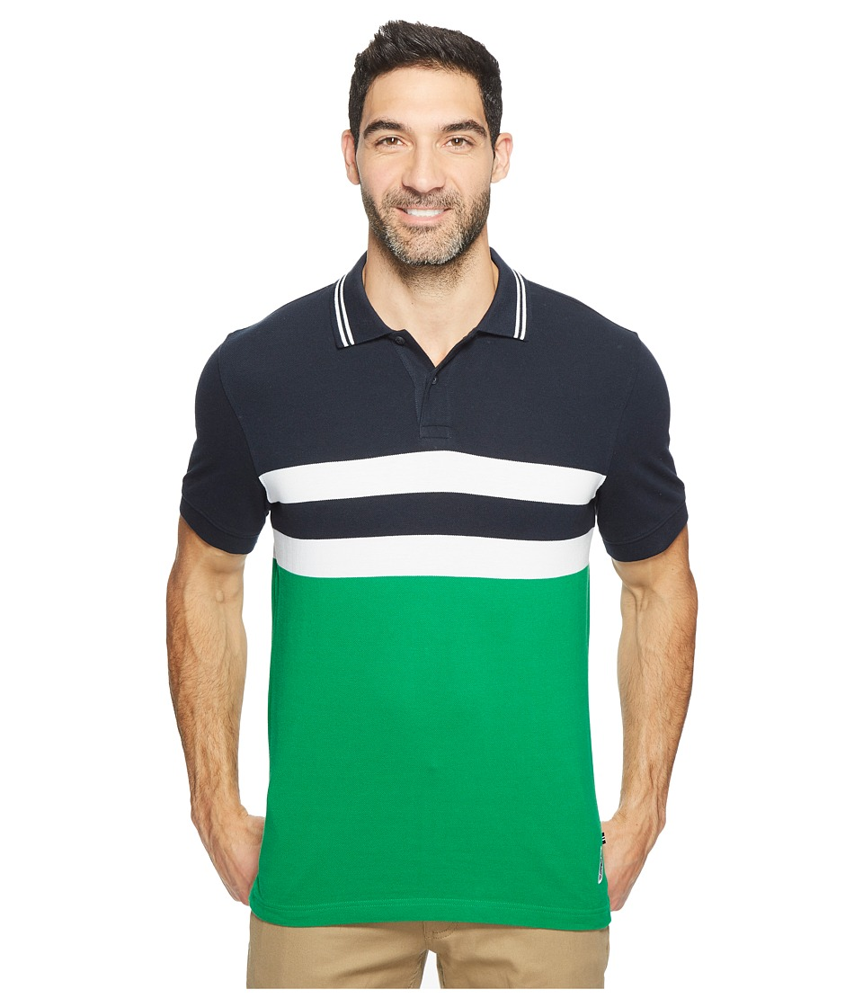 Nautica - Short Sleeve Color Blocked Polo (Rolling Green) Men's Short Sleeve Knit