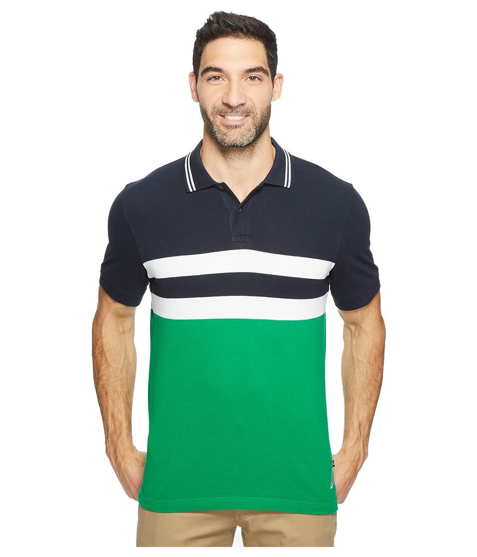 Nautica - Short Sleeve Color Blocked Polo (Rolling Green) Men's Short Sleeve Knit