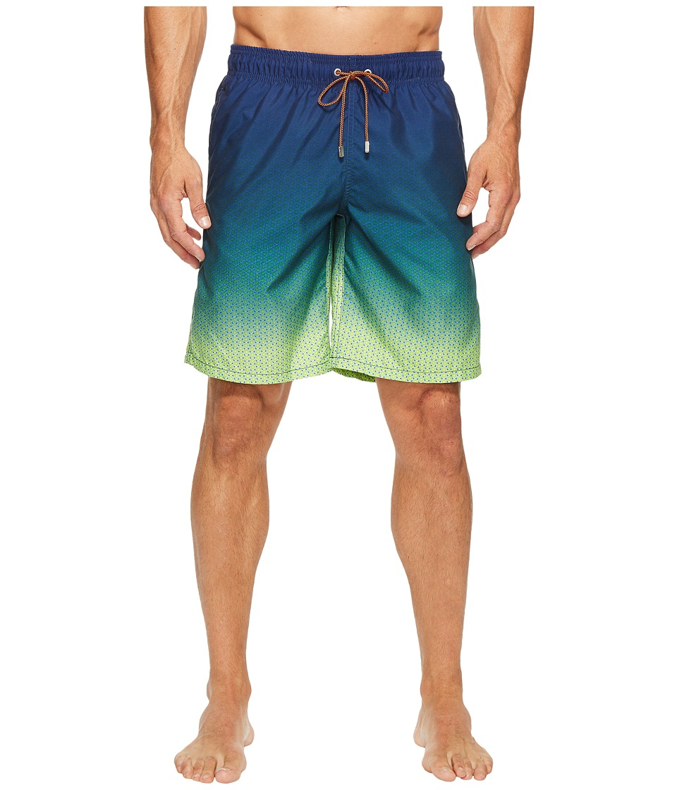 BUGATCHI - Ombre Swim Trunks (Paradise) Men's Swimwear