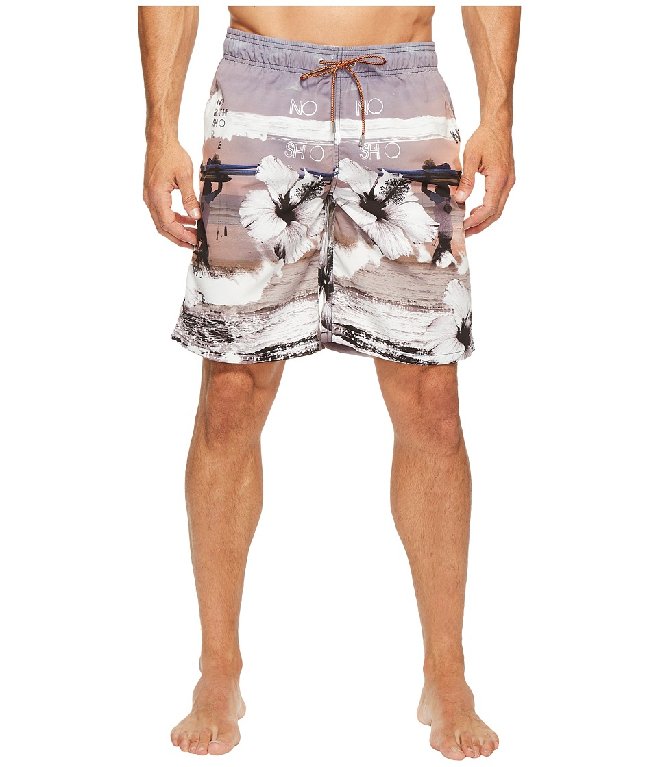 BUGATCHI - Tropical Sunset Swim Trunks (Sun) Men's Swimwear