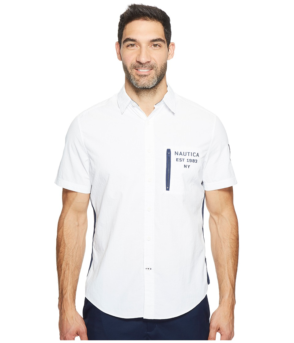 Nautica - Short Sleeve Heritage Rigger (Bright White) Men's Clothing