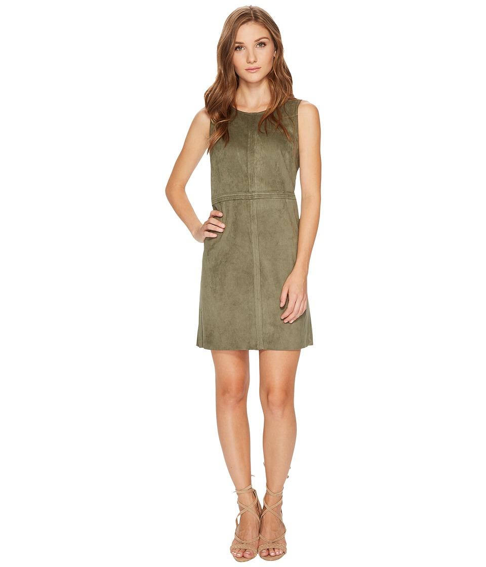 kensie Stretch Suede Dress KS0U7137 (New Olive) Women