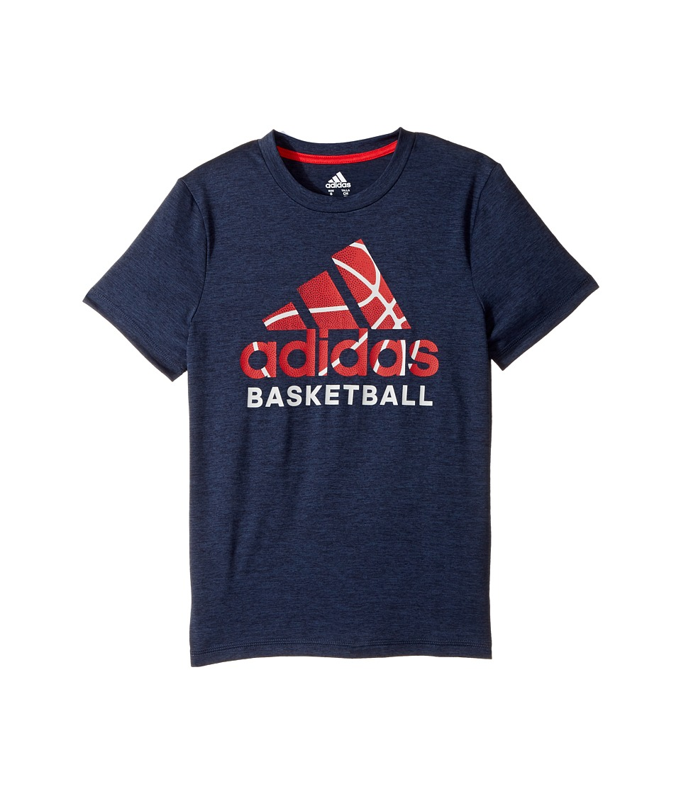 adidas Kids - Sport Performance Tee (Big Kids) (Navy/Red) Boy's T Shirt