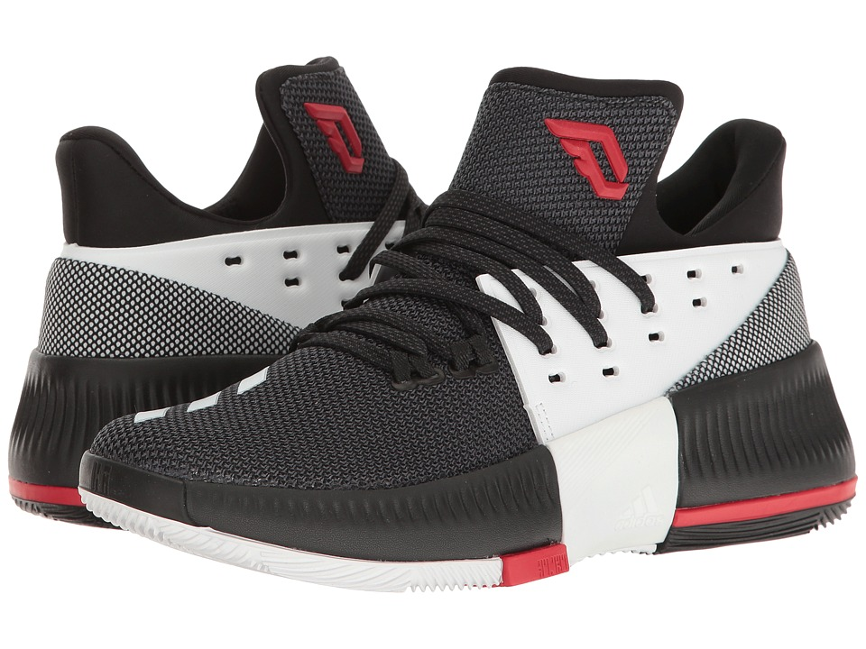 adidas Kids - D Lillard 3 (Big Kid) (Black/White/Scarlet) Kids Shoes