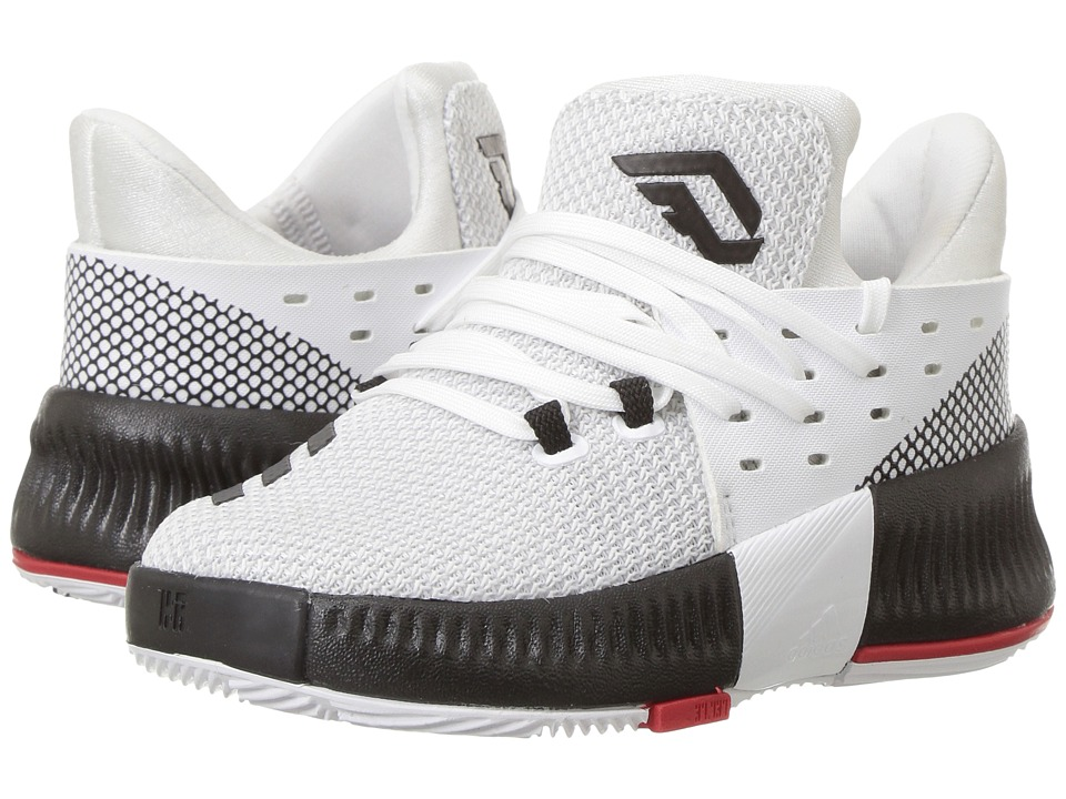 adidas Kids - D Lillard 3 (Infant/Toddler) (White/Black/Scarlet) Kids Shoes