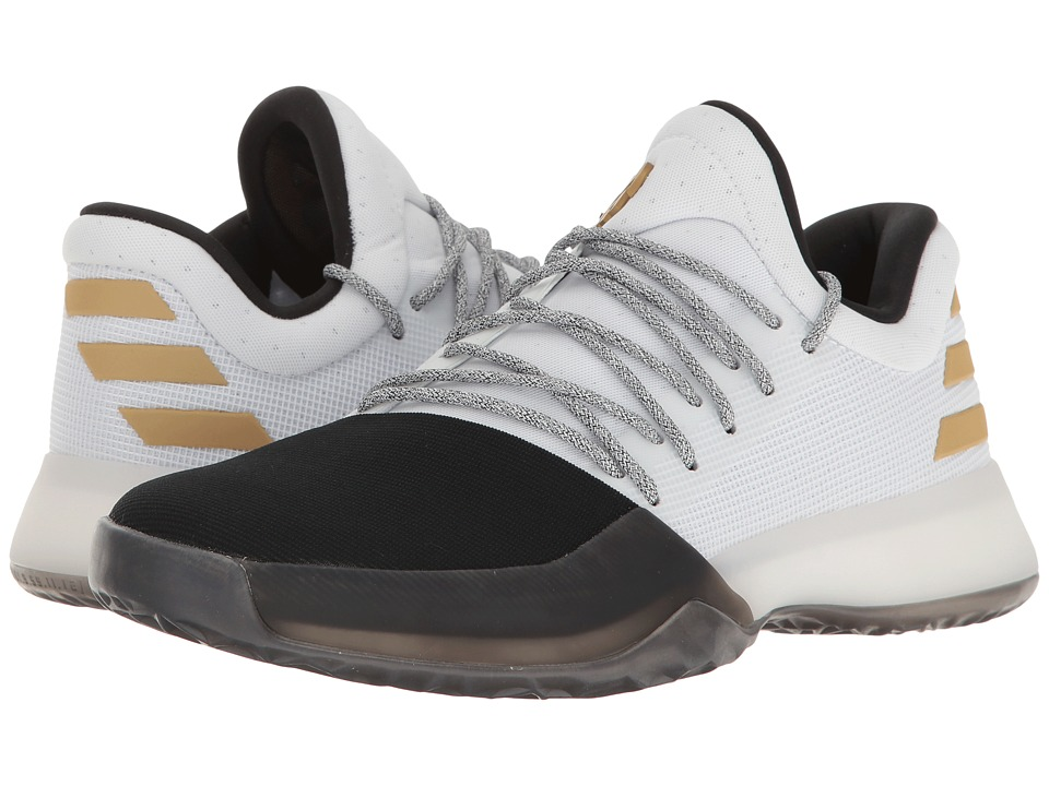 adidas Kids - Harden Vol. 1 (Big Kid) (White/Black/Bold Gold) Kids Shoes