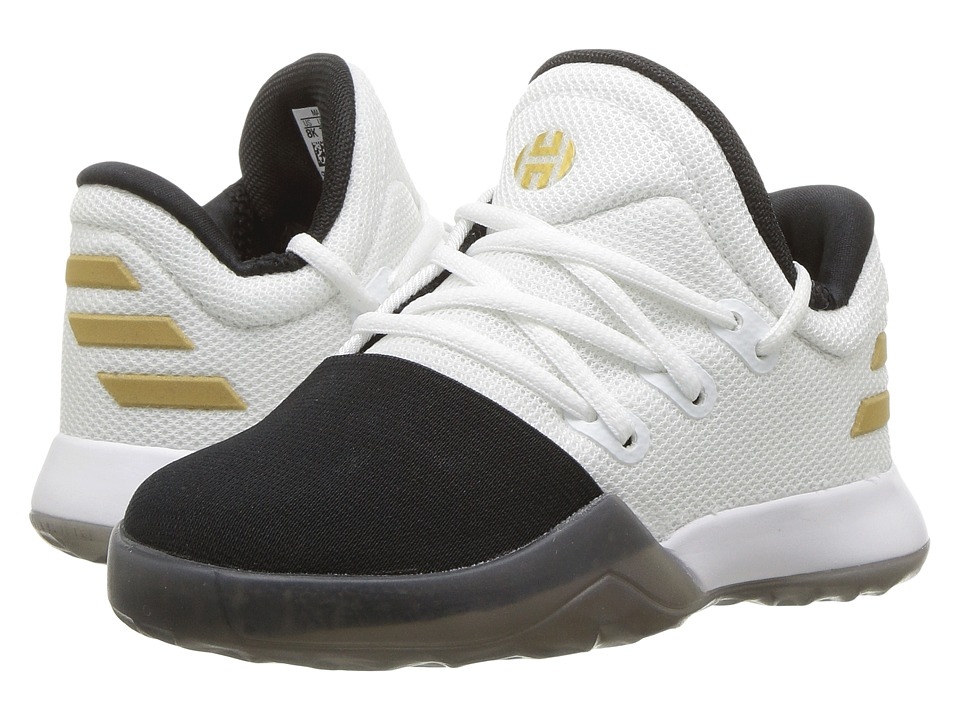 adidas Kids - Harden Vol. 1 (Infant/Toddler) (White/Black/Gold Metallic) Kids Shoes