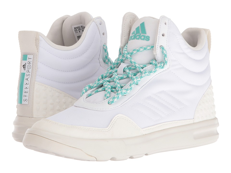adidas - Irana (White/White Vapor/Joy Green) Women's Shoes
