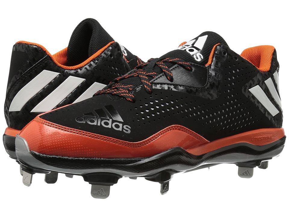 adidas - PowerAlley 4 (Black/White/Orange) Men's Shoes