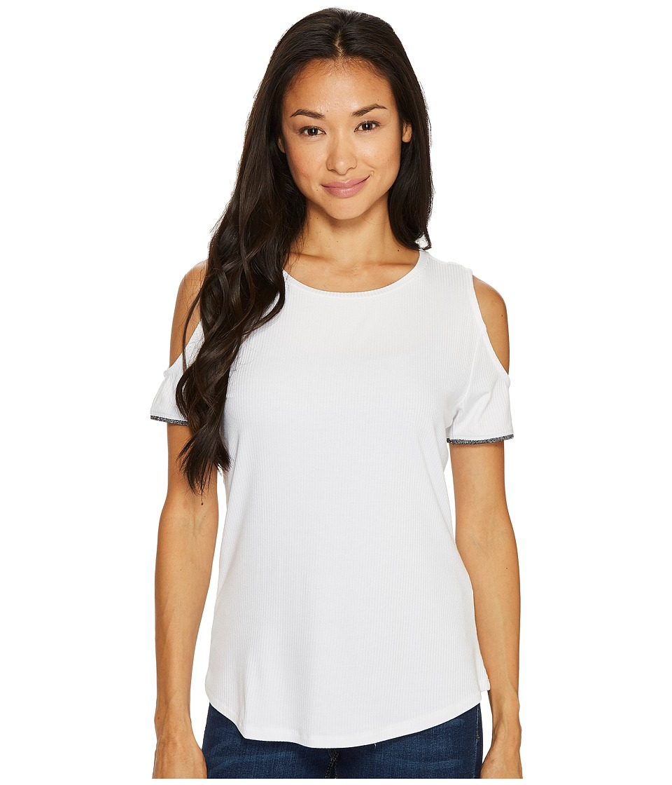 Ivanka Trump - Cold Shoulder Tee (White) Women's T Shirt
