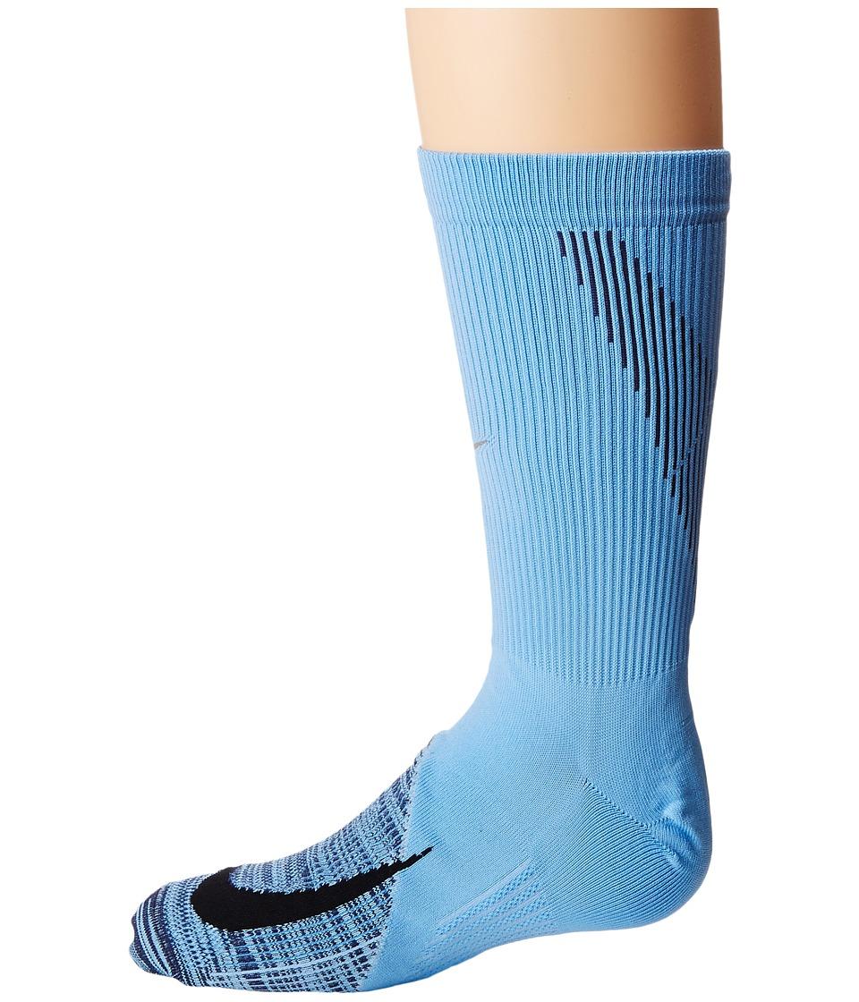 Nike Elite Lightweight Crew Running Socks (Cobalt Pulse/Neutral Indigo/Black) Crew Cut Socks Shoes