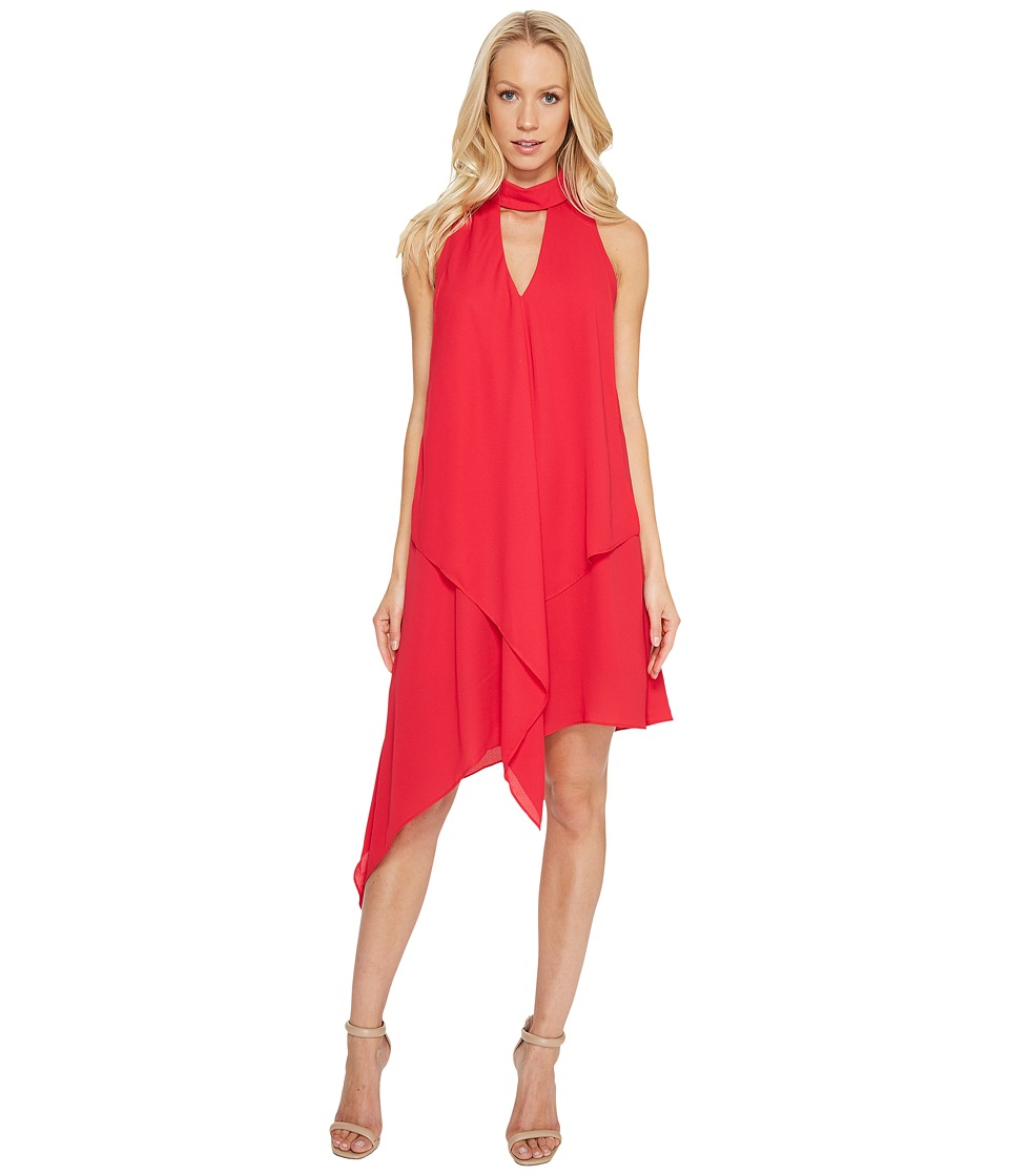 Maggy London Cascade Swing Dress (Pomegranate) Women