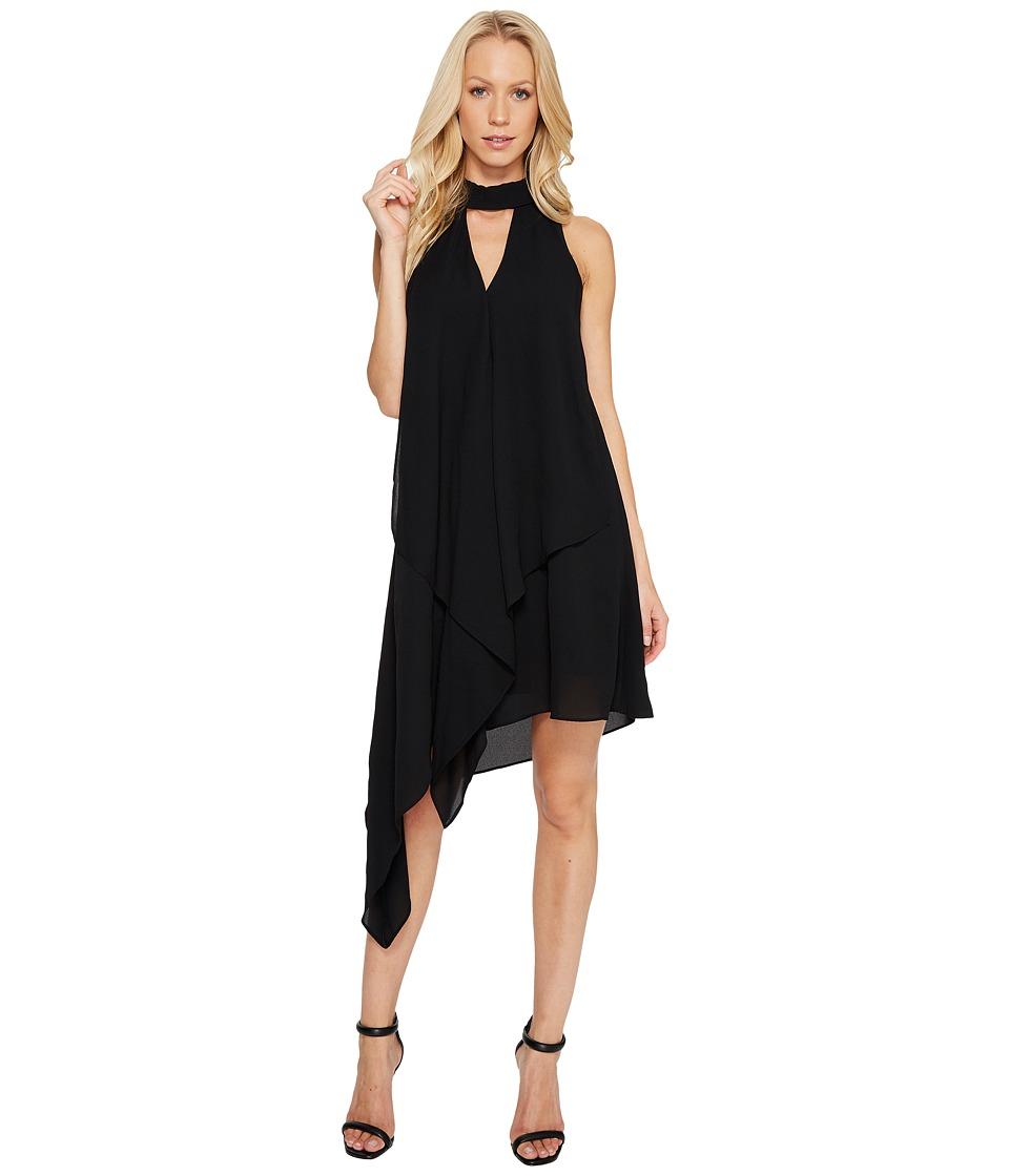 Maggy London - Cascade Swing Dress (Black) Women's Dress