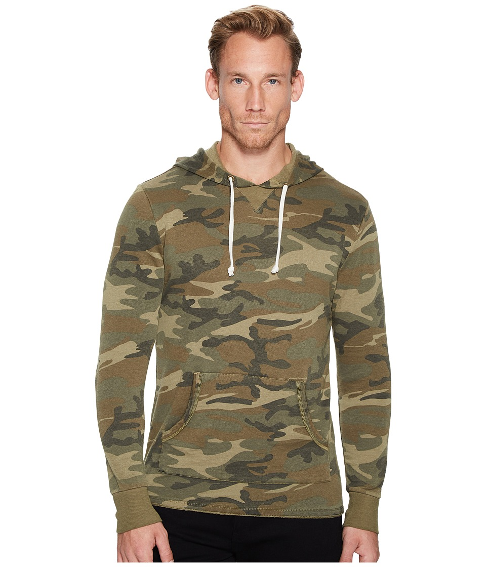 Alternative - Light French Terry Burnout School Yard Hoodie (Camo) Men's Clothing