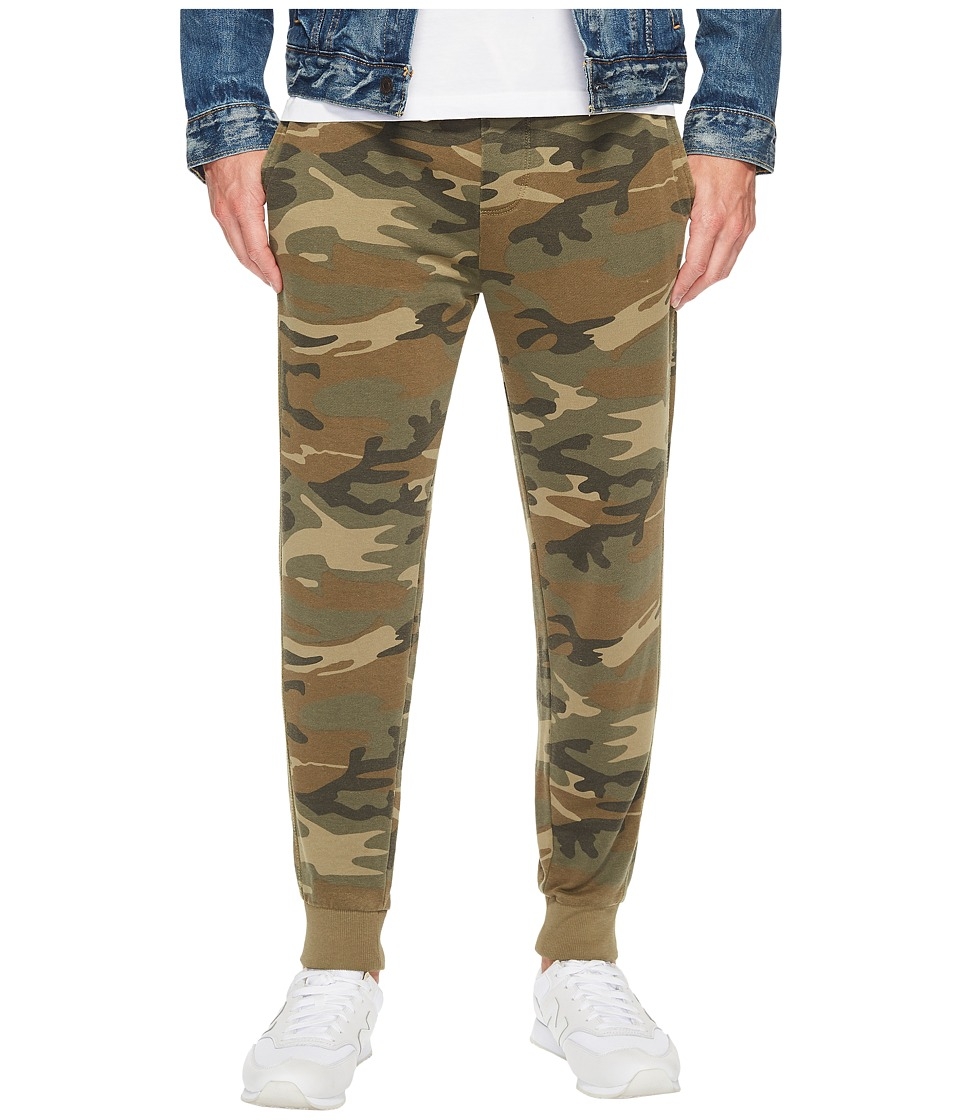 Alternative - Light French Terry Burnout Campus Joggers (Camo) Men's Casual Pants