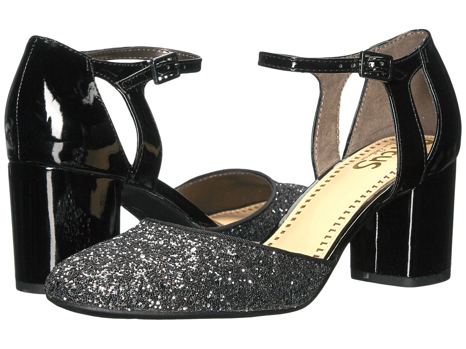 Circus by Sam Edelman - Jensen (Black/Anthracite Patent/Disco Glitter) Women's Shoes