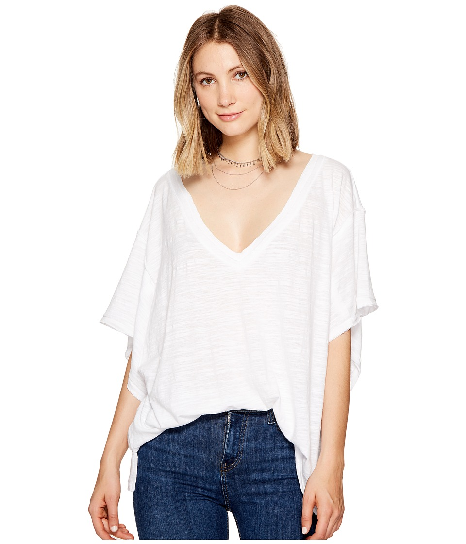 Free People - My Boyfriends Tee (White) Women's T Shirt