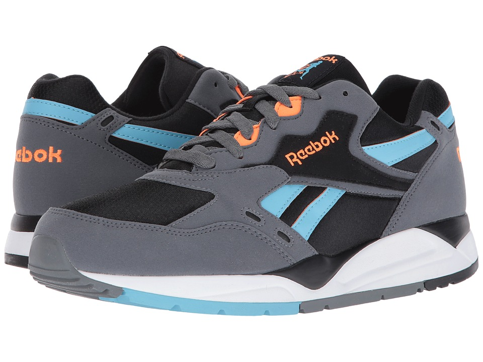 Reebok - Bolton (Black/Alloy/Blue Splash) Men's Running Shoes