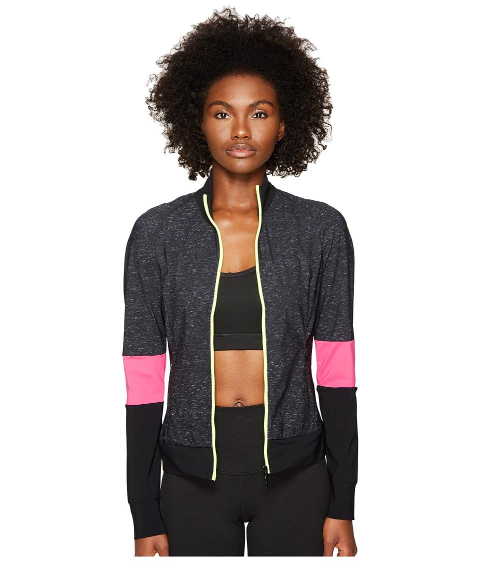 Monreal London - Featherweight Jacket (Black Melange Print) Women's Coat