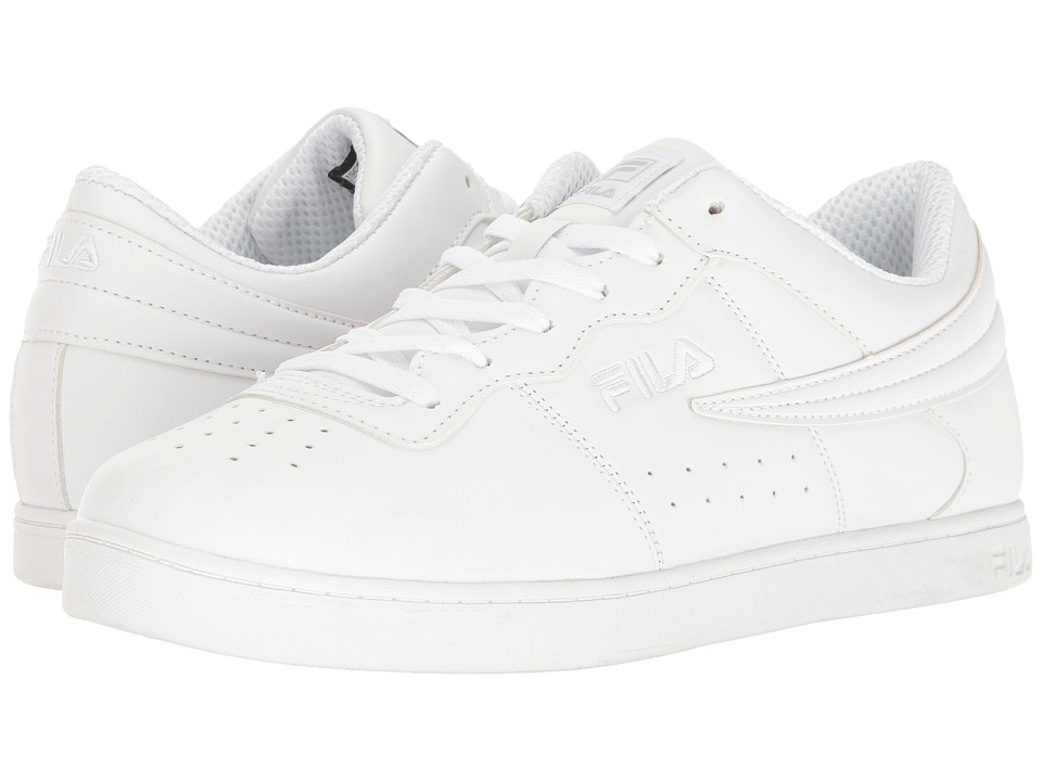 Fila - Court 13 Low (White/White/White) Men's Shoes