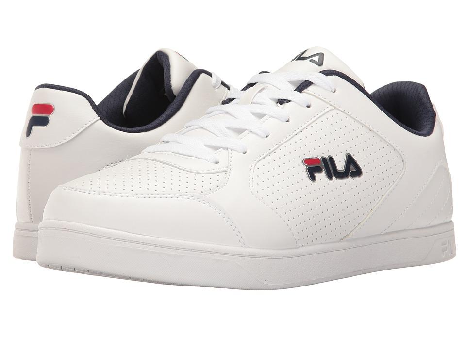 Fila - Orlando 5 (White/Fila Navy/Fila Red) Men's Shoes