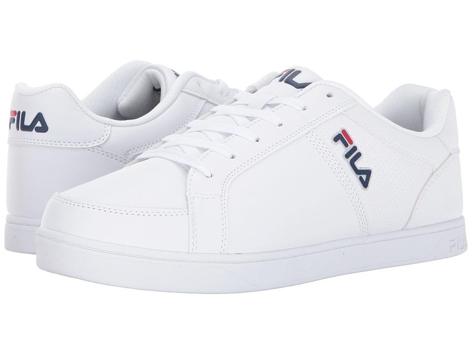 Fila - Keysport (White/Fila Navy/Fila Red) Men's Shoes