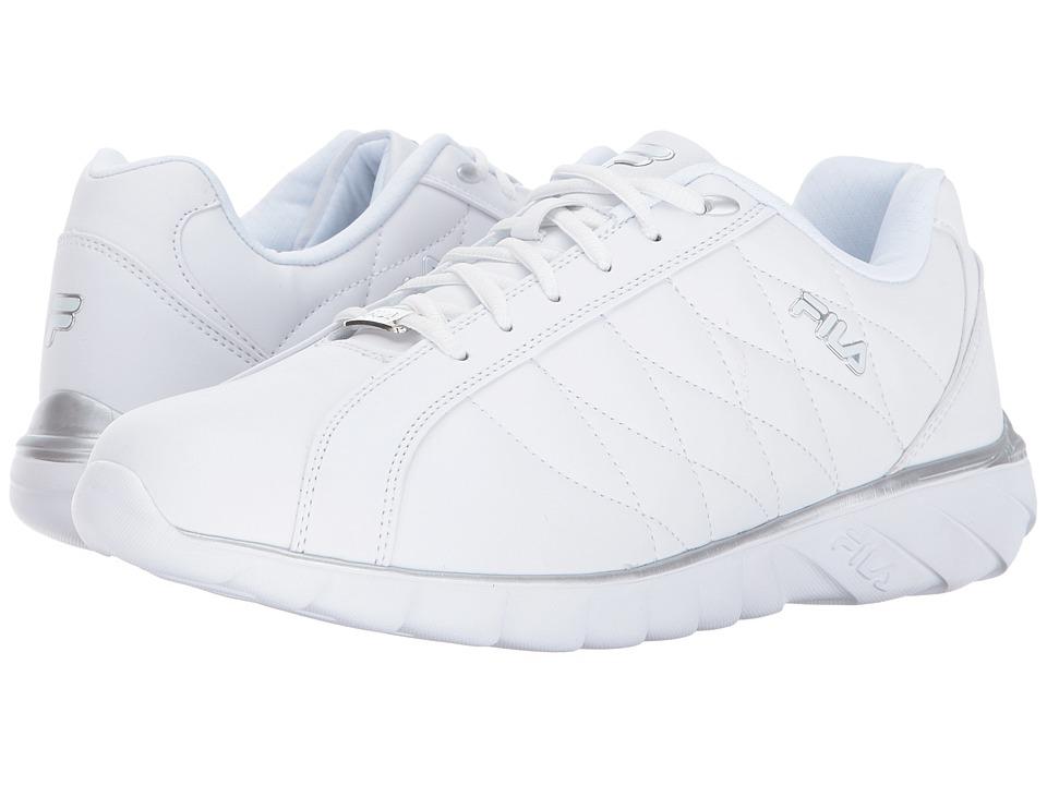 Fila - Sable (White/Metallic Silver/Metallic Silver) Men's Shoes