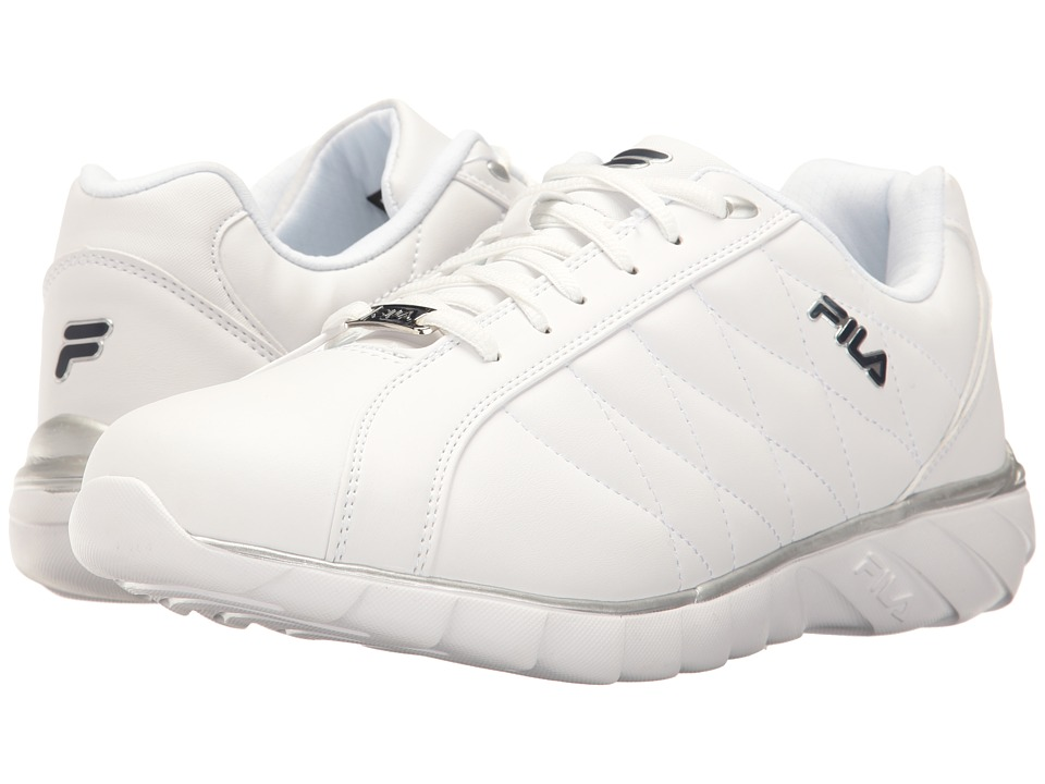 Fila Sable (White/Fila Navy/Metallic Silver) Men